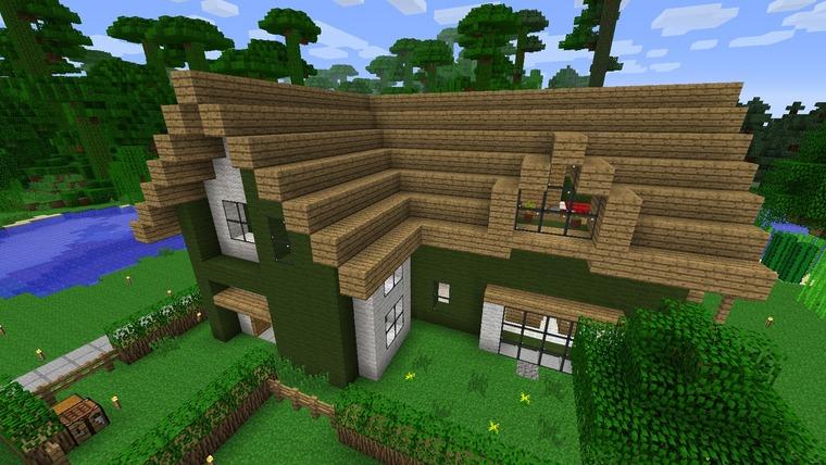 自宅紹介その2 緑と白のモダンな家