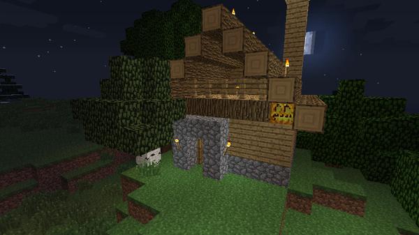 仮拠点作成!木造の小さい家