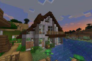 閃緑岩で作った三角屋根の家を紹介